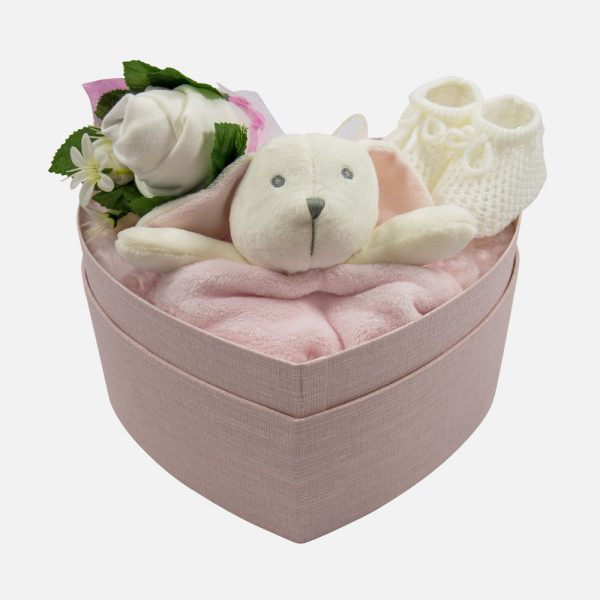 Heart Box Gift Set Pink