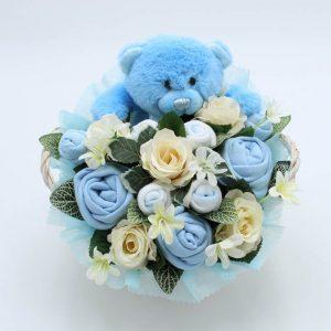Baby Teddy Bouquet Blue