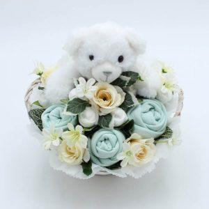 Baby Teddy Bouquet Mint