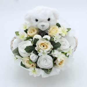 Baby Teddy Bouquet Neutral