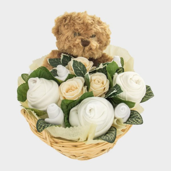 Baby Teddy Bouquet Neutral