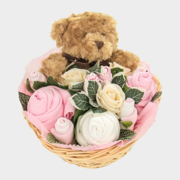 Baby Teddy Bouquet Pink
