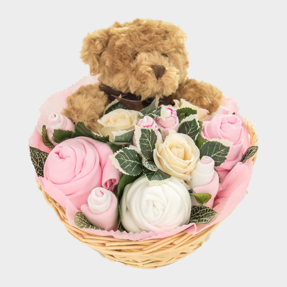 Baby Teddy Bouquet Pink – Baby Bouquets c741228c2