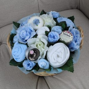 Deluxe Pampering Bouquet Blue - Baby Clothing Bouquet