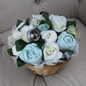 Deluxe Pampering Bouquet Mint - Baby Clothing Bouquet