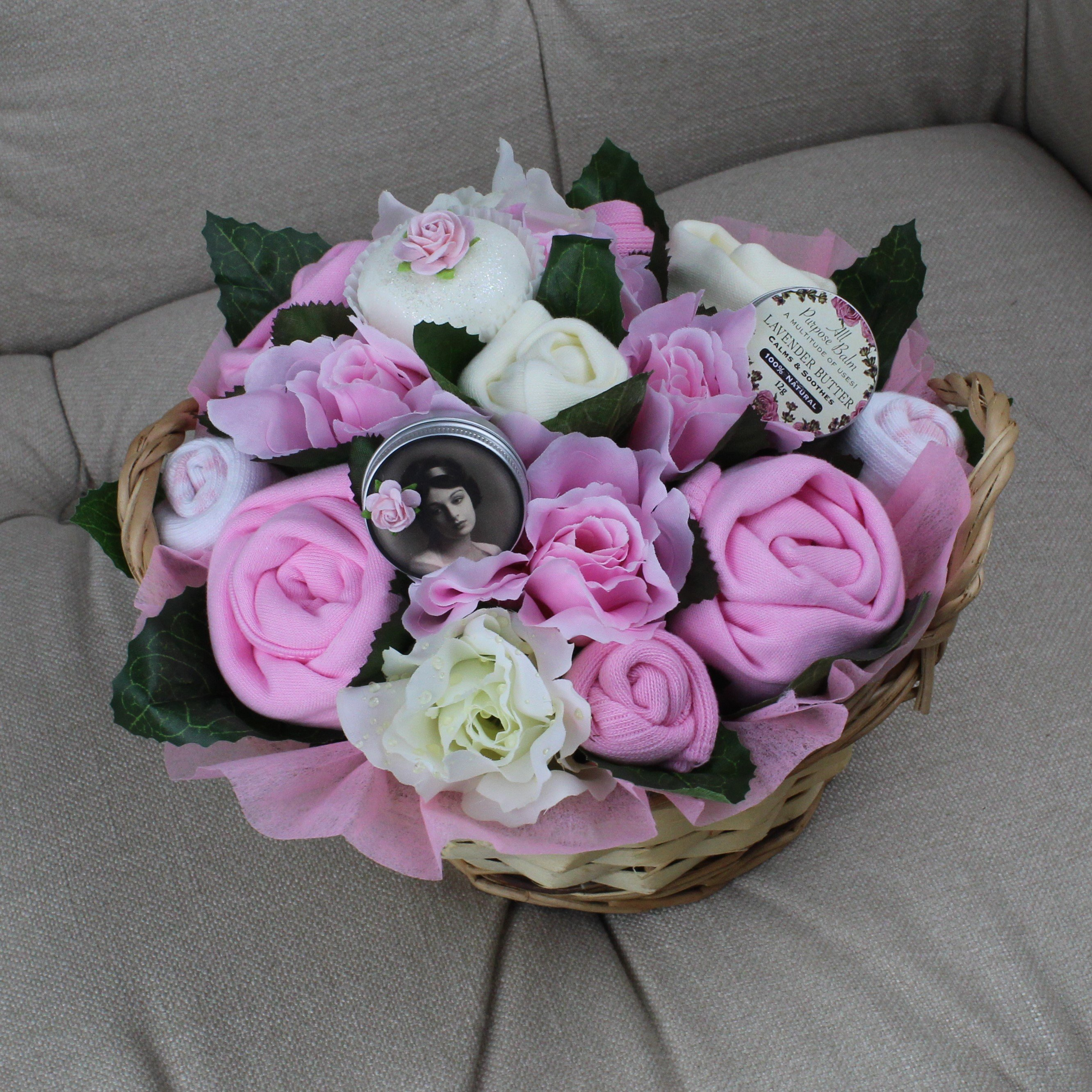 Deluxe Pampering Bouquet Pink - Baby Clothing Bouquet