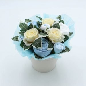 Flower Pot Bouquet Blue