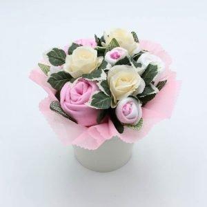 Flower Pot Bouquet Pink