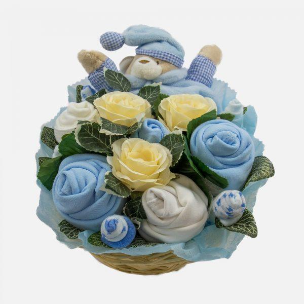 Snuggles Comforter Bouquet Blue