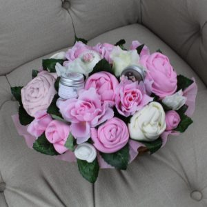 Superior Pampering Bouquet Pink - Baby Clothing Bouquet