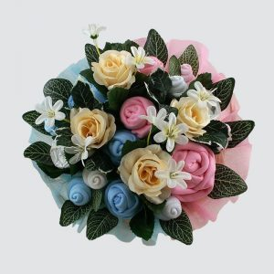 Twins Deluxe Baby Bouquet Pink & Blue