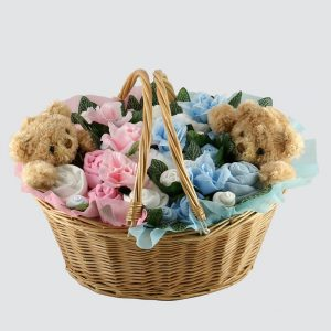 Twins Ultimate Bouquet Pink & Blue