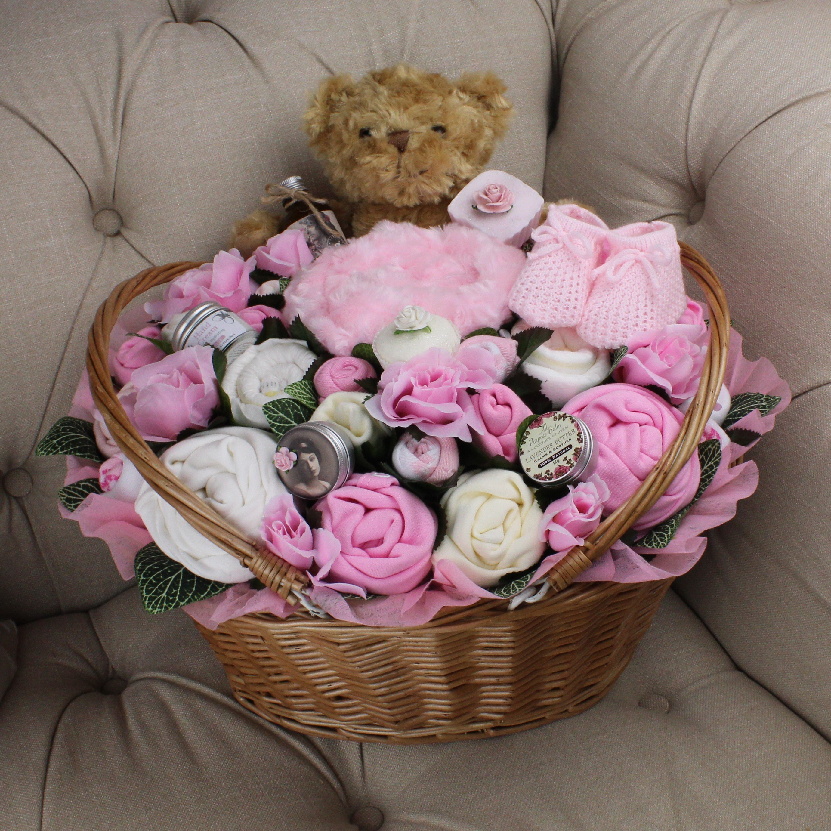 Ultimate Plus Pampering Pink- Baby Clothing Bouquet
