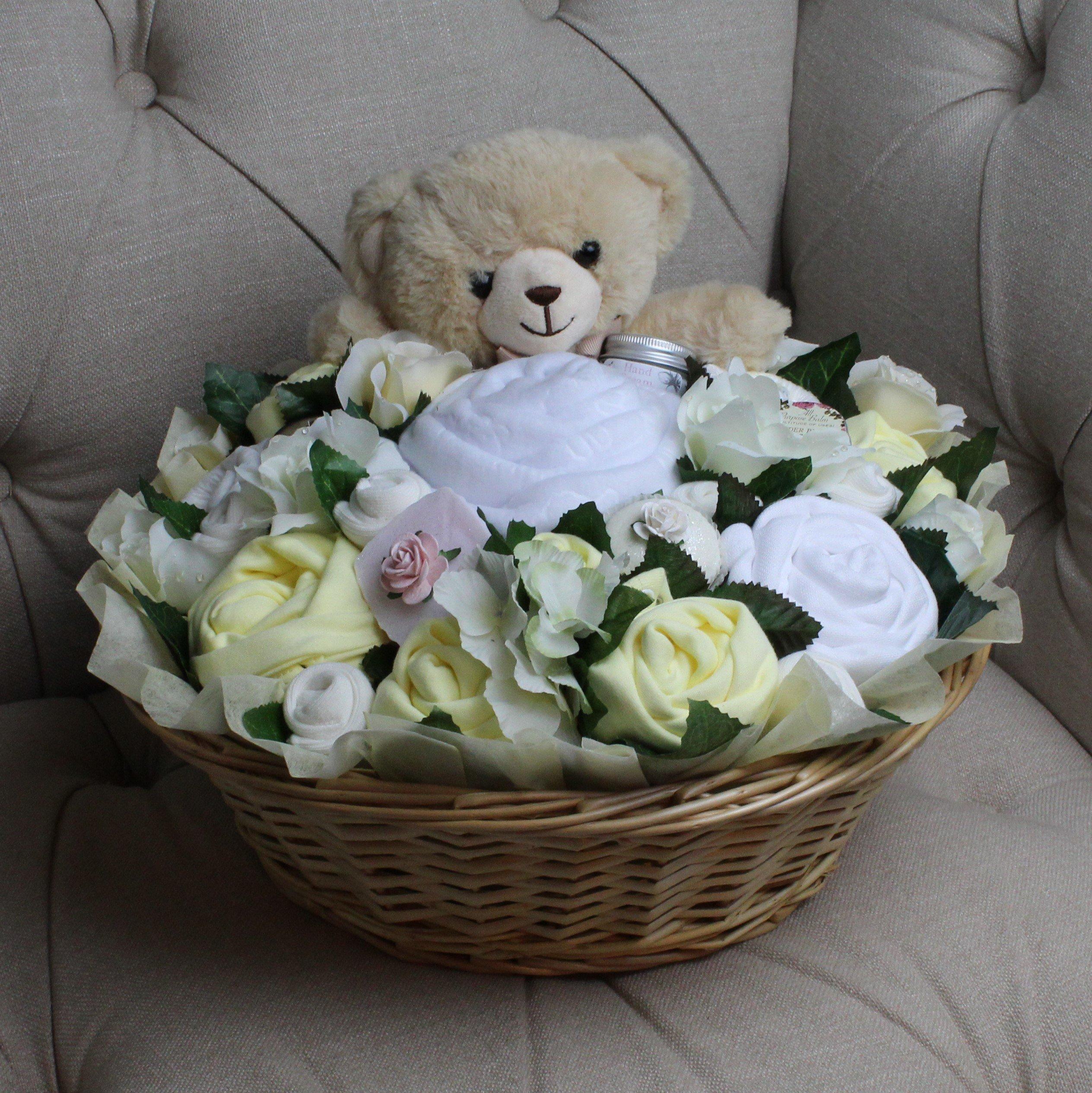 Luxurious Pampering Bouquet Lemon - Baby Clothes Bouquet