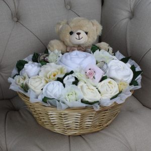 Luxurious Pampering Bouquet Neutral - Baby Clothes Bouquet