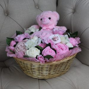 Luxurious Pampering Bouquet Pink - Baby Clothes Bouquet
