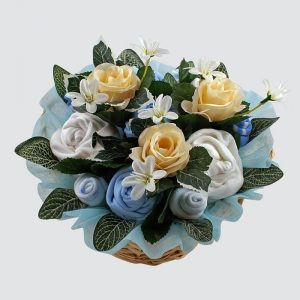 Twins Deluxe Baby Bouquet Blue