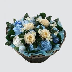 Twins Luxury Baby Bouquet Blue